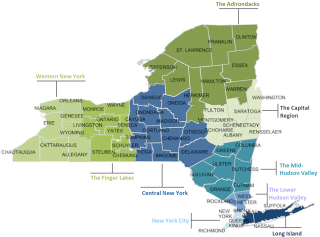 Regional Composition Map of New York